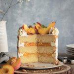 Layer cake pêche vanille