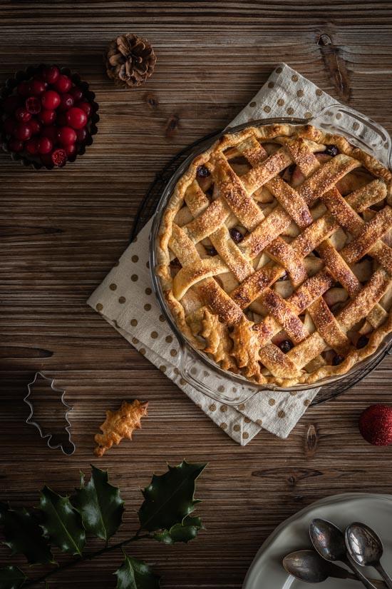 Pies aux pommes et cranberries