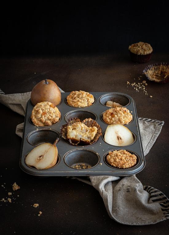 Muffins à la poire fondante