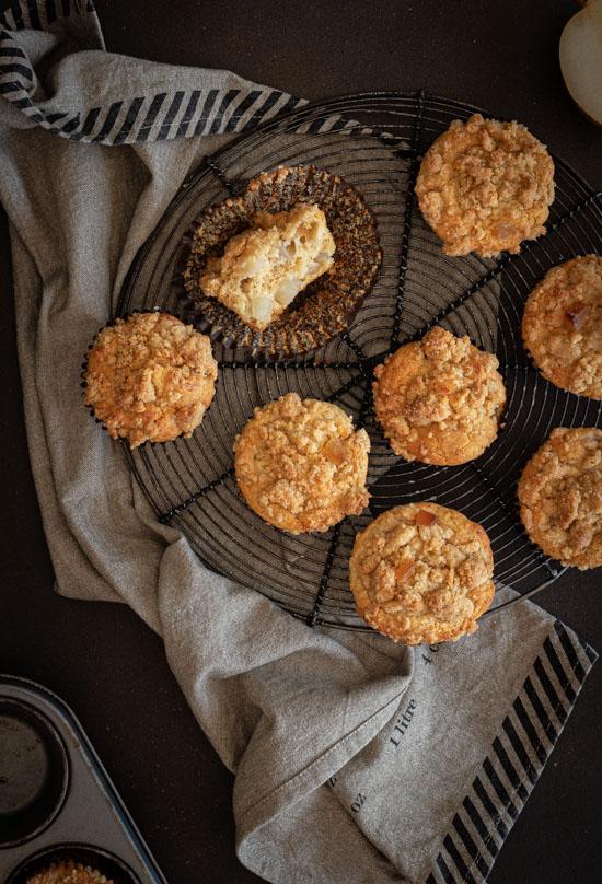 Dessus de muffins avec crumble