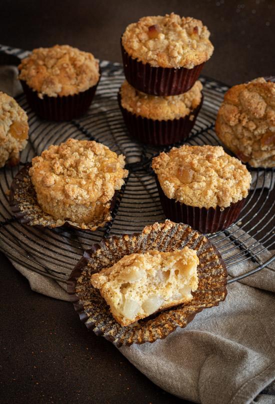 Muffins avec crumble croustillant