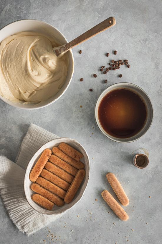 Tiramisu avec biscuits boudoir